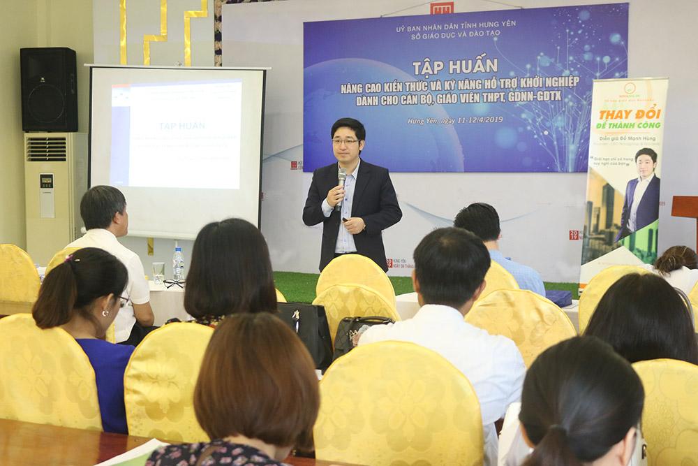 Chuyên gia - CEO Đỗ Mạnh Hùng: 'Khởi nghiệp sẽ tạo cho học sinh Kỹ năng toàn diện- nền tảng cốt lõi để Khởi nghiệp thành công'